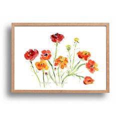 Buttercups art print Buttercup  watercolor print by TheJoyofColor