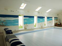 Experienced mural artist based in Cheshire, hand painting wall murals for homes, schools and businesses across the UK. Mural painter for children's and modern wall art. Ocean Mural, Chill Out Room, Hand Painted Walls, Sea And Ocean, Mural Painting, Modern Wall Art, Wall Murals, Contemporary Design, Swimming Pools