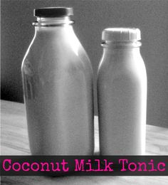 """Coconut Milk Tonic Recipe -""""Coconut Milk Tonic is a beverage recipe  found on The Weston A. Price Foundation website. It contains the same about of calories and calcium as milk and is the best dairy free alternative to cows milk."""""""
