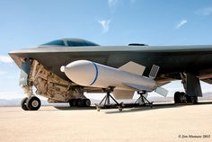 Rare image of a B-2 stealth bomber and its Massive Ordnance Penetrator bunker buster bomb