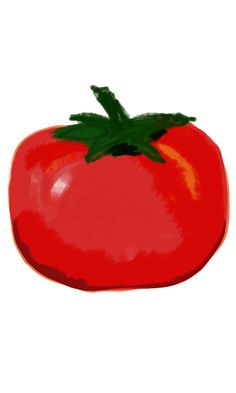 Tomato Screensaver for Smartphones. Bright, clean and beautiful by Laura Nealy Burks.