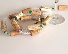 Red Decor , Wine Cork Garland, Christmas Garland, Candy Cane Decor , Wine Decor, Wine Decoration, Wine Cork Crafts, Wine Gift by MaxplanationPhotos on Etsy