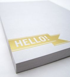 Hello! Gray + Gold Notepad. NEED THIS.