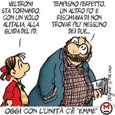 Sergio Staino - l'Unità 22 settembre 2008