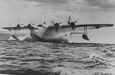 Short Sunderland at Lough Erne, County Fermanagh,Northern Ireland, WW2.Castle Archdale & Killedeas bases along with the later landplane bases for Coastal Command & USAF a/c such as Boeing B-17 Flying Fortresses & Consolidated B-29 Liberators,in area vital for convoy protection & anti u-boat patrols.