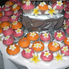 Pink Swan Events - Pink and Orange Cupcake & Candy Bar (www.PinkSwanEvents.com)