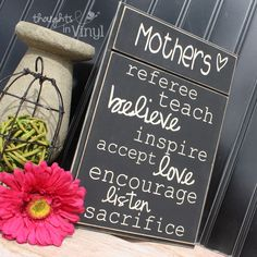 Cute board for mother's day.  They even have a layout for Grandmas!  http://www.thoughtsinvinyl.com/vinyl-craft-projects-craft-kits-family-subway-art.html  Lots of fun wood crafts for sell on this website