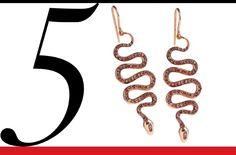Ileana Makri rose gold and champagne diamond earrings, price upon request barneys.com