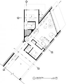 Image 20 of 21 from gallery of Buddhist Retreat / Imbue Design. Buddhist Architecture, Futuristic Architecture, Architecture Plan, Villa Design, House Design, Buddhist Retreat, Triangle House, Museum Exhibition Design, Casas Containers