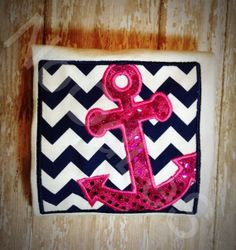 Navy Blue and Hot Pink Anchor Children's Shirt by NoOdLeSBoutique, $18.00