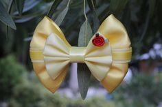 Belle Hair Bow by DumbowShoppe on Etsy