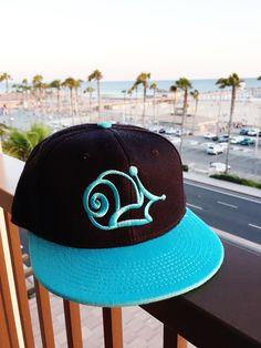 Snail Co Original Snapback - Black | Teal - SnailCo
