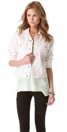Ok look at white jean jacket  Cheap Monday Tess Jean Jacket