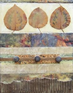Encaustic painting encaustic nature collage 8 by twocooltexans