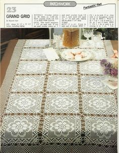 A large square motifs for tablecloths, napkins,   blankets, pillows ....
