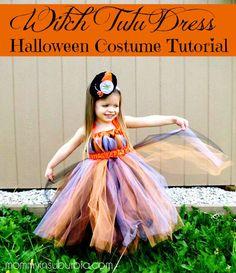 Witch Tutu Dress Halloween Costume Tutorial