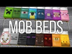 How to Get Custom Mob Beds in Minecraft Cool Minecraft Banners, Minecraft Banner Designs, Amazing Minecraft, Minecraft Funny, Minecraft Crafting Recipes, Minecraft Secrets, Minecraft Crafts, Minecraft Ideas, Minecraft Redstone