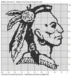 images of free crochet filet charts | Free Filet Crochet Charts and Patterns - Native American by Herr ...