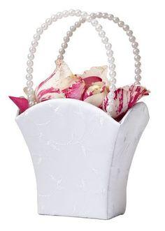 White Flower Basket Flower Girl Basket by LILLIAN ROSE, http://www.amazon.com/dp/B0012K3T5U/ref=cm_sw_r_pi_dp_syhfqb0ZAENJH