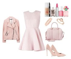 """""""Tea with the Girls!"""" by fabuliciousfi ❤ liked on Polyvore featuring Giambattista Valli, Givenchy, Giuseppe Zanotti, Henri Bendel, Reeds Jewelers, Benefit, Essie and Marc Jacobs"""