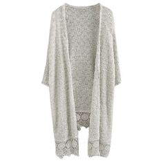 Textured Light Grey Knit Cardigan ($29) ❤ liked on Polyvore featuring tops, cardigans, veste, knit tops, short cardigan, light gray cardigan, knit vest and vest cardigan