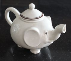 Fitz and Floyd Porcelain Elephant Teapot