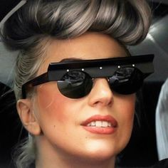 Lady Gaga in vintage sunglasses from Resurrection