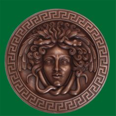 Medusa with snake hair surrounded by the Greek Key design  Google Image Result for http://www.vitale.com.au/f.ashx%3Fv%3D8390