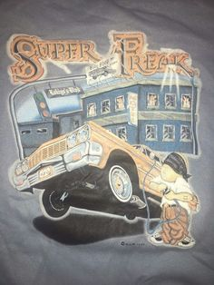 VTG 90's Lowrider art Colorblock Sweatshirt Medium cholo chicano Impala Homie  #Tultex #SweatshirtCrew