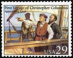 Oct. 12, 1492: After sailing across the Atlantic Ocean, Italian explorer Christopher Columbus sights a Bahamian island, believing he has reached East Asia. His expedition went ashore the same day and claimed the land for Isabella and Ferdinand of Spain.