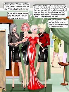 Smooth Slick n Shiny. The kinky dreams of Andy.: New Art. Sissy Maid, Sissy Boy, Prissy Sissy, Captions Feminization, Tg Tf, Feminized Boys, Drawn Art, Female Transformation, Cd Art