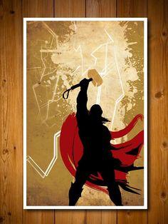 Retro Avengers Movie Poster - Thor. via Etsy.