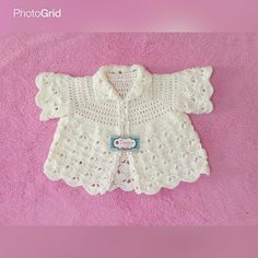 READY STOCK! Only 1 pcs.. Pearl white baby cardigan size 0-12 M.. 100% handmade.. Material import yarn.. For price & info contact whatsapp 081290692079.. Thank you..  #babycardigan #jualrajutan #rajutanbayi #rajutanhandmade #rajut #rajutan #instacrochet #crochetaddict #crochet #cardiganrajut #cardiganrajutbayi #babydress #bajurajutbayi #bajubayi #photoprops #babycostume #sweaterbayi #sweaterrajutbayi by tiamocrochet