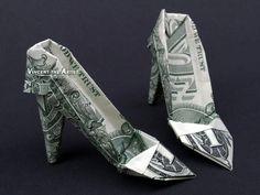 HIGH HEELS Money Origami Women Shoes - Designed by Jodi Fukumoto
