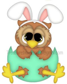 Easter Owl Bunny  - Treasure Box Designs Patterns & Cutting Files (SVG,WPC,GSD,DXF,AI,JPEG)