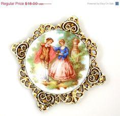 CIJ Sale Vintage Fragonard Dancing Couple Brooch by TheFashionDen