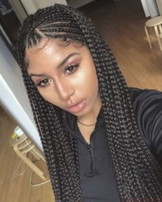 Buy these high quality Wigs for Black Women Lace Front Wigs Human Hair Wigs African American Wigs – Pigtail Hairstyles Natural Curly Hair, Thick Hair, Natural Hair Styles, Long Hair Styles, Ghana Braids Hairstyles, Braids Wig, Curly Hairstyles, Pigtail Braids, Long Braids