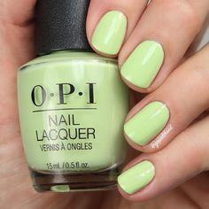 How Does Your Zen GaGrow} from the ✨new✨ OPI Tokyo Collection. No Chip Manicure, No Chip Nails, Mani Pedi, Opi Nail Polish Colors, Green Nail Polish, Nail Polishes, Spring Nail Colors, Spring Nails, Summer Nails