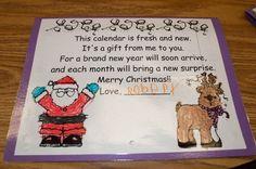 Mrs. Ricca's Kindergarten: Crafts...poem for parent calendar