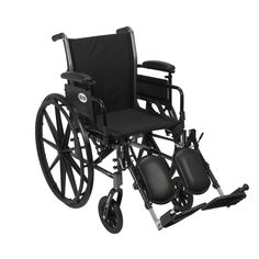 Drive k320adda-elr Cruiser III Light Weight Wheelchair with Flip Back Removable Arms, Adjustable Height Desk Arms, Elevating Leg Rests, 20""