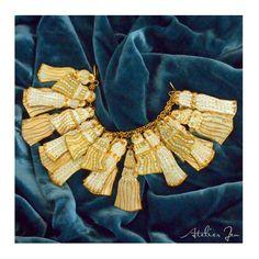"""""""Neva"""" tassel charm bracelet. Paper jewellery by Atelier Jen www.atelierjen.com"""