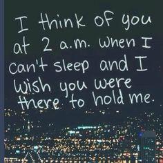 So true. I always wish you were sleeping next to me. Love my man :)