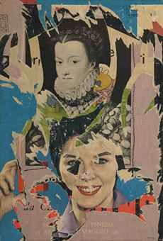 Mimmo Rotella Classico + moderno signed 'Rotella' (lower right)… Create Collage, Collage Art, Martin Kippenberger, Pop Art, Amazing Paintings, Art For Art Sake, Moncler, American Artists, Scissors