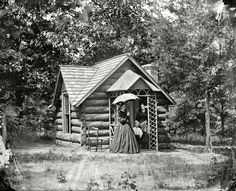 "1865. Petersburg, Virginia. ""Cottage of Col. Nathaniel Michler, U.S. Engineers, at Bryant house."" From photographs of the main Eastern theater of war, the siege of Petersburg, June 1864-April 1865. Historical Photo Archive :: The Colonel's Cottage: 1865"
