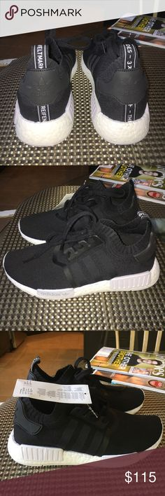 Adidas NMD-black women's size 7/men's size 6 BLACK Adidas NMD sneakers- Brand new with tags, never worn. Women's size 7/men's size 6 Adidas Shoes Sneakers