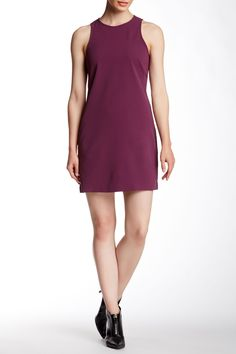 Solid Crepe Sleeveless Dress