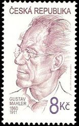 Gustav Mahler - Austrian composer - on a Czech postage stamp.