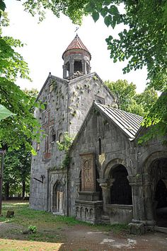 Sanahin Monastery, a 10th century old monastery in northern Armenia (by collage42).