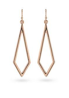 19.99$ Trina Turk Rosegold Recolor Drop Pierced Earrings