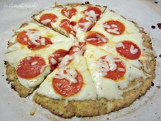 how to make Low Carb Cauliflower Crust Pizza - No sauce, No flour, No Sugar, No Guilt... #recipe #instructions